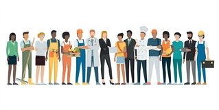 image of people representing a diverse workforce